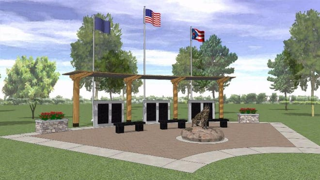 This is what the Ohio Police K9 Memorial Foundation wants the memorial in Amelia to look like upon completion.