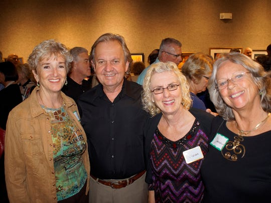 Liz Doyle, Lynn and Vivian Stiles and Donna Kay enjoy the 2nd Tuesday festivities at the Center for the Arts.