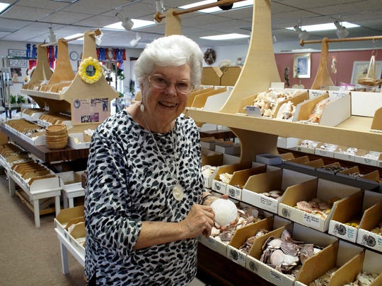 Emily Savage has been selling shells for 31 years.