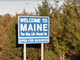 Confident and clear, Maine's welcome sign boasts the