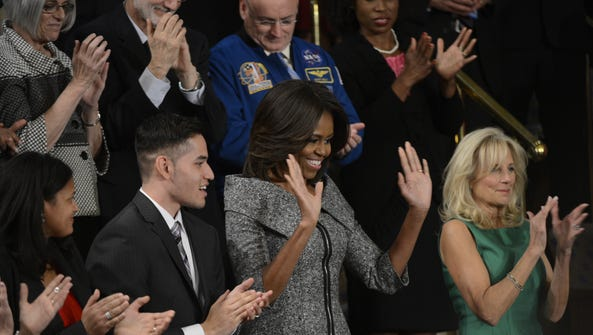 First Lady Michelle Obama with Second Lady Jill Biden
