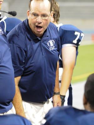 Roosevelt football coach Mike Holland