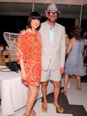 Trina Turk and her husband Jonathan Skow.
