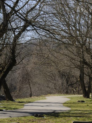 A section of the French Broad River Greenway.