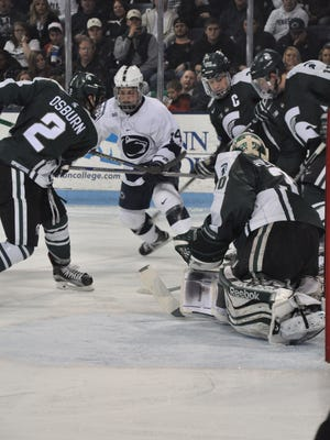 MSU was undone by four second-period goals from the Nittany Lions Friday, Dec. 4 at Penn State.