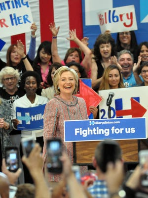Hillary Clinton received a warm welcome during her campaign stop at Hartnell College in Salinas on Wednesday, May 25th, 2016.