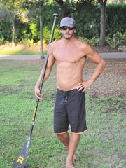Ryan Helm of Jupiter once was a professional surfer, and took up paddleboarding originally to train during the off-season.