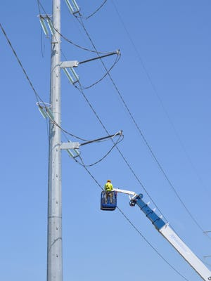 Transmission-line construction by American Transmission Co., Pewaukee