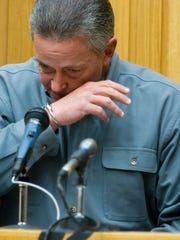 Gary Christian fights to keep his emotions in check as he gives a victim impact statement to the jury in court in 2009.
