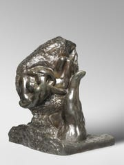 'The Hand of God,' by Auguste Rodin, bronze, modeled 1898; cast 1925, is part of a new installation at the Rodin Museum in Philadelphia centered on the theme of passionate embrace.