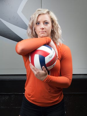 Makayla Krall was a unanimous selection to the all-Marawood Conference-South Division volleyball team as a junior.