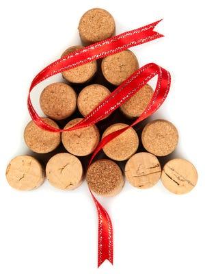 Christmas tree made with wine corks.