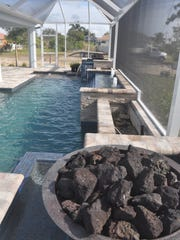 SC Homes says the pool is one of the most impressive features of the new Oasis model in Cape Coral.