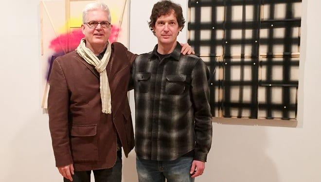 Acclaimed artist Cary Smith, left, poses with WNMU professor John Abbott at Pierogi art gallery in New York.
