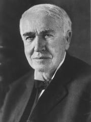Thomas Edison is shown in this undated portrait
