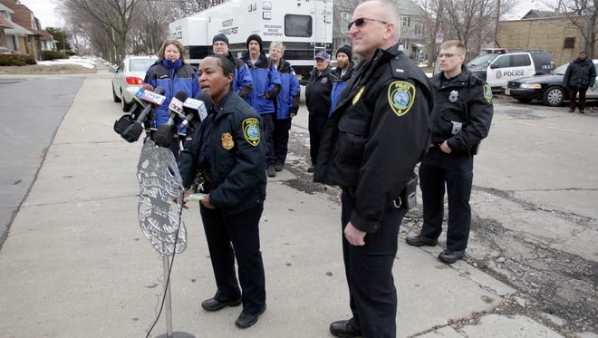 Capt. Regina Howard talks to reporters about a missing person case in this 2013 file photo.