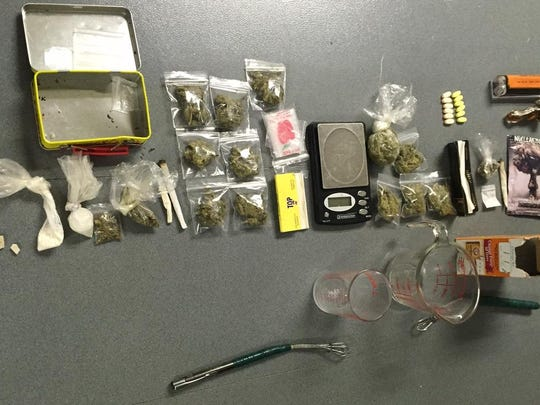 Drugs seized during the arrest of Joseph Gilliam.