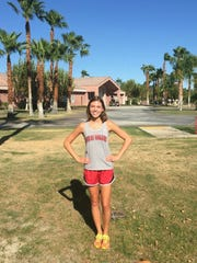 """""""You're looking at the track team,"""" laughs Chloe about being the sole Firebird representative in the spring sport."""