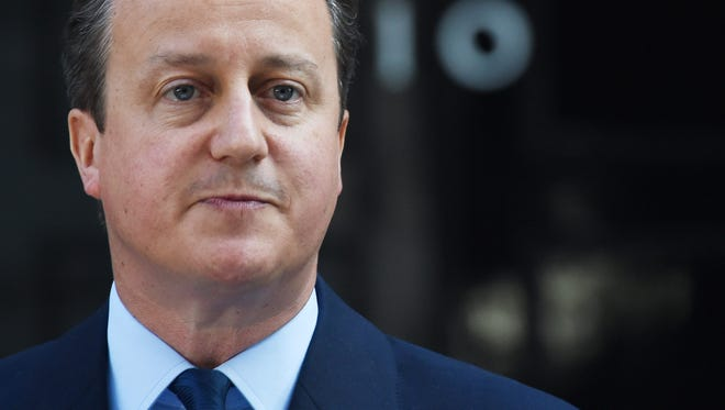 British Prime Minister David Cameron announces his resignation after losing the vote in the EU Referendum outside 10 Downing Street in London, Britain, June 24, 2016.