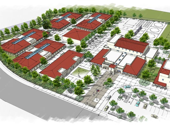 A rendering of the proposed school at Harvest at Limoneira, formerly known as East Area One in Santa Paula.