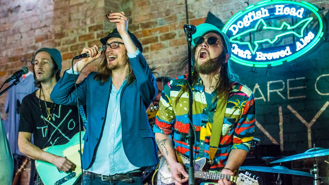 """Cyrus Youngman & the Kingfishers perform """"Pinocchio"""" during the Jan. 23, 2018, episode of """"Dogfish Head Brewery presents IndyStar Sessions"""" at Square Cat Vinyl."""""""