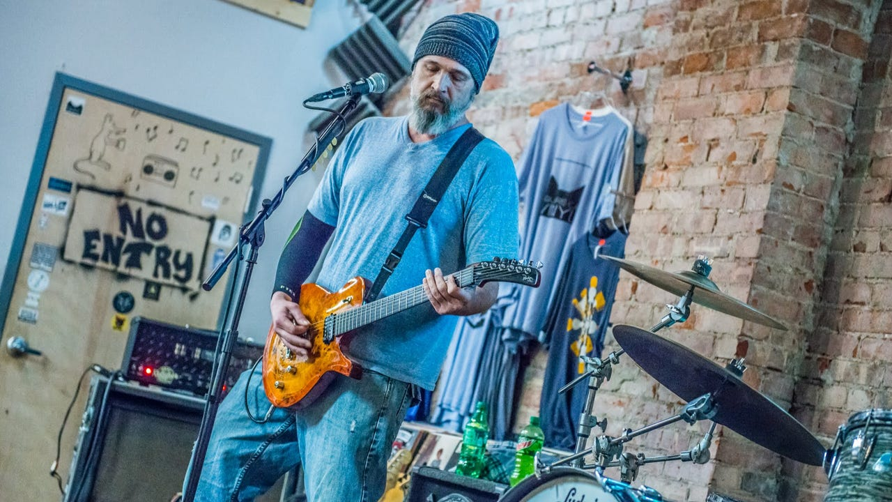 """Birdmen of Alcatraz perform """"Eyes of the World"""" as part of the Feb. 1, 2018, episode of """"Dogfish Head Brewery presents IndyStar Sessions at Square Cat Vinyl."""""""