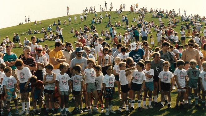 "The ""It's Fun to Run"" will celebrate its 35th anniversary on Saturday. Pictured are children from the 1988 run, including Shane Smith and his brother, Shannon."