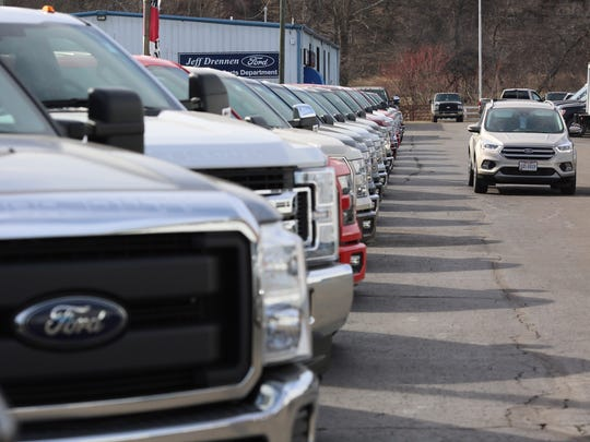 Trucks and small sport utility vehicles lead sales in Coshocton County, according to Jeff Drennen.