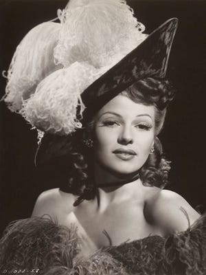 """Rita Hayworth portrayed Sal — albeit as a character in a storyline quite different from Paul Dresser's and the actual Sal's real life — in the 1942 movie """"My Gal Sal."""" Hayworth is shown here in the movie """"Tonight and Every Night."""""""