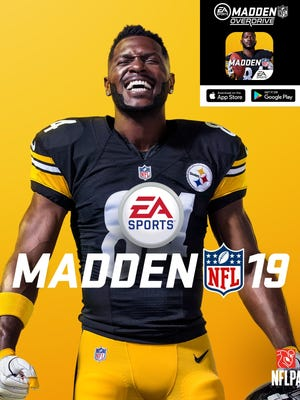 Pittsburgh Steelers wideout Antonio Brown is on the cover of Madden NFL 19