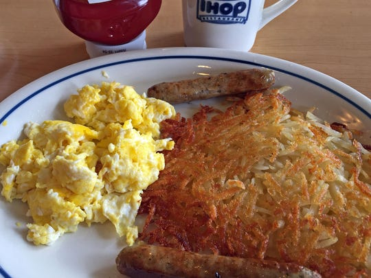 The breakfast combo at IHOP, Salinas