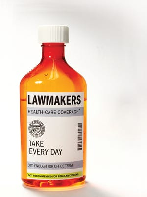 Arizona lawmakers get prime health-care benefits subsidized by taxpayers.