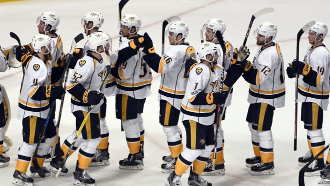 The Predators are leading a playoff series 2-0 for the second time in franchise history.