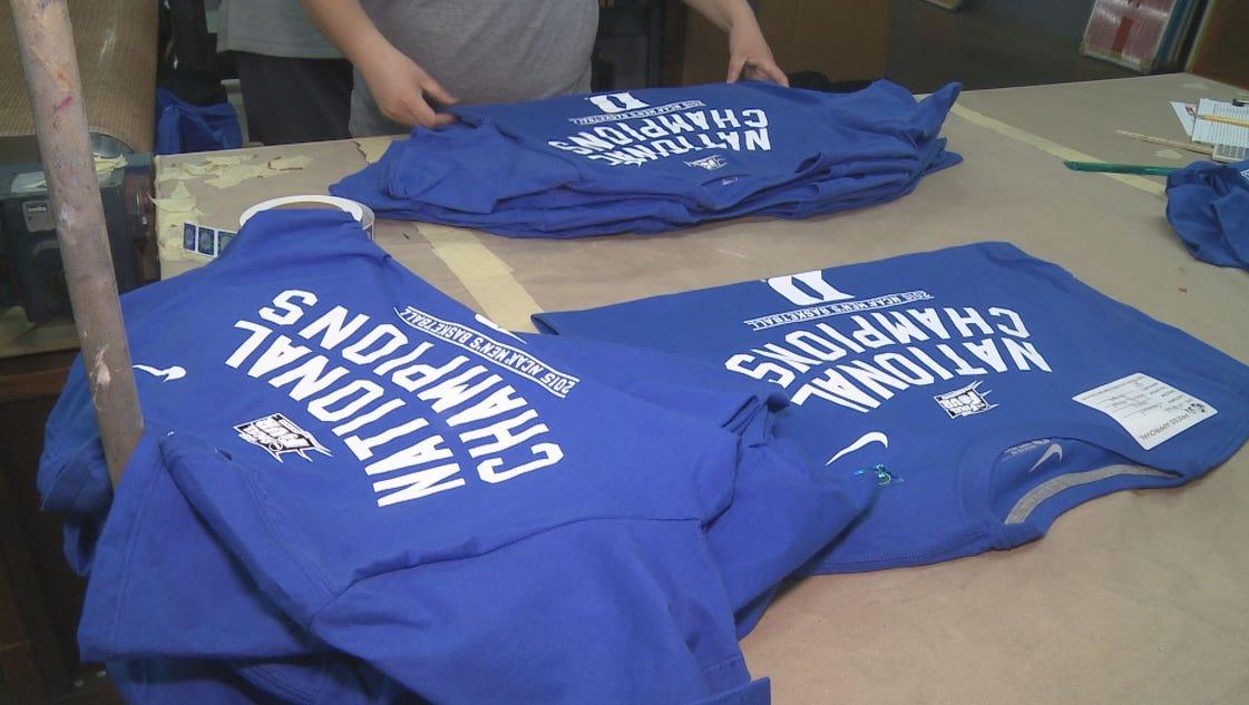 Piedmont company printing duke championship t shirts for Local t shirt printing company