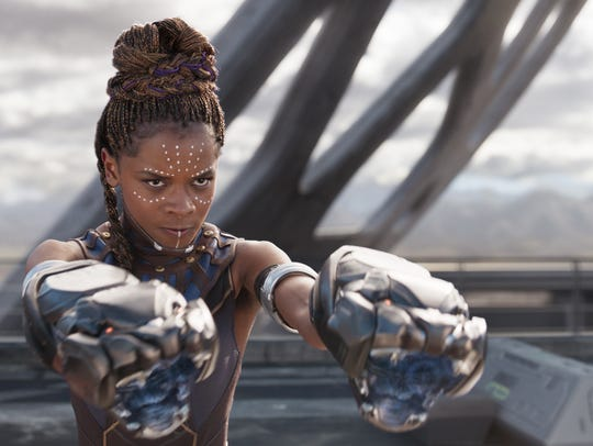 "Letitia Wright stars in ""Black Panther."""