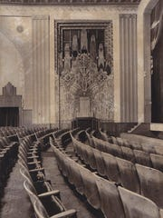 Historic photo of seats inside the Flynn.