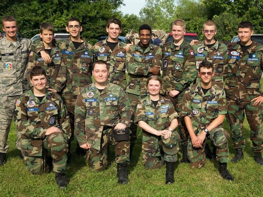 Civil Air Patrol Cadet 2nd Lt. Dakota Wagaman, front row, second from right, attended the National Emergency Services Academy at Camp Atterbury, Indiana July 2016. This is a class photo of Wilderness Advanced First Aid. Dakota is a member of Palm Springs Composite Squadron 11.