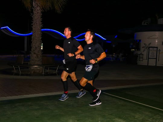 7 marathons, 7 continents, 7 days: Knoxville resident Brian Winter completed that feat this year becoming one of only several hundred runners to ever finish the World Marathon Challenge. Here is running in Dubai, with friend Andrew Brooks.