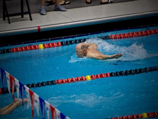 Fred Russell coached and swam for the Wisconsin Masters