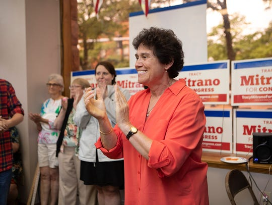 Tracy Mitrano at the opening of her headquarters in