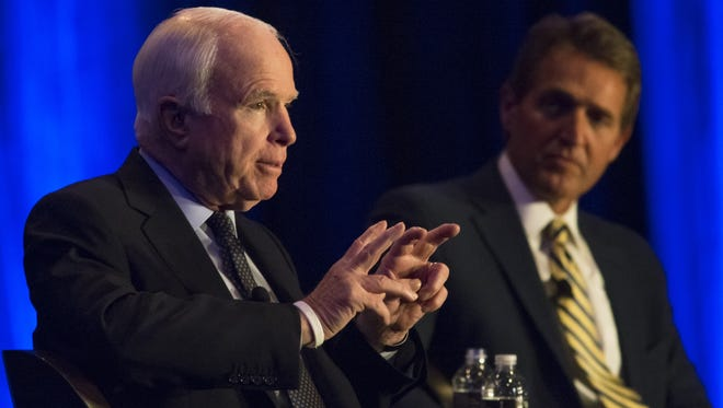 "Arizona's Sens. John McCain and Jeff Flake were shut out of the drafting of the Senate Republican version of ""Trumpcare."""