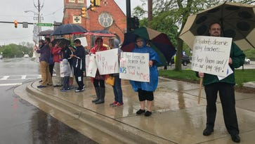 Why were BCPS teachers picketing in the rain?