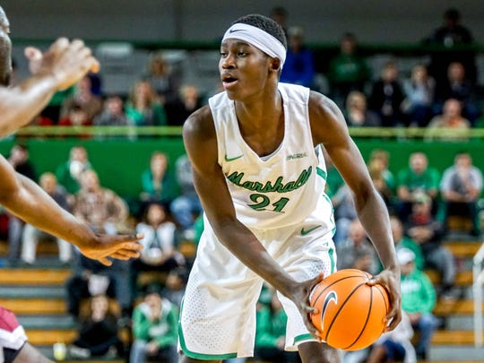 Daris George, in his freshman season at Marshall, is averaging 3.4 points and 3 rebounds a game.