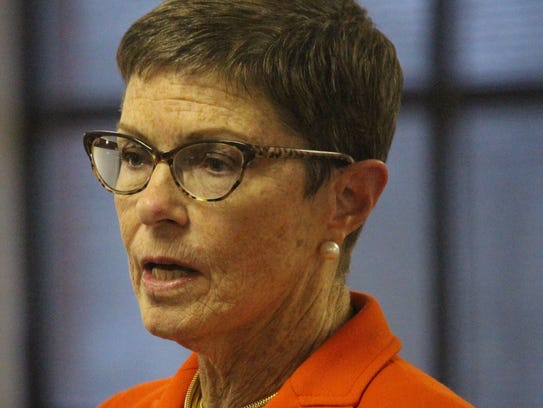 Gubernatorial candidate Marguerite Willis spoke at