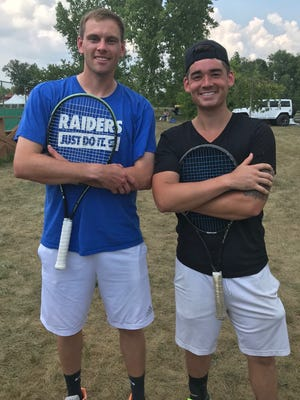 """Alex """"Bones"""" McCann, the 2009 champ, and two-time and defending champ Nicky Wong meet Monday at 6 p.m. for the men's singles title in the 87th News Journal/Richland Bank Tennis Tournament at Lakewood Racquet Club."""