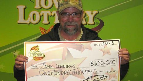 John Jennings, of Altoona, won the lottery.