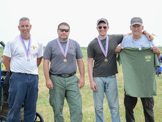 Competitors who fire achievement scores earn gold,