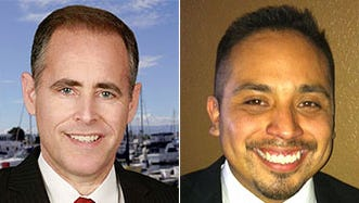 Aaron Starr, left, and Oscar Madrigal are in a tight race for Oxnard City Council.