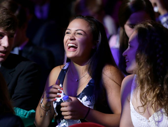 Girls athlete of the year, Lexi Romero has a laugh