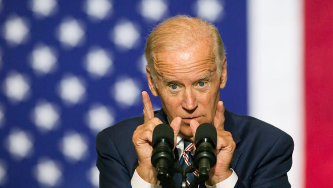 "Vice President Joe Biden campaigns at Drexel University, urging students to register to vote and come out for Democratic presidential candidate Hillary Clinton. Biden questioned Donald Trump's ""moral center"" after his comments about America's housing collapse."